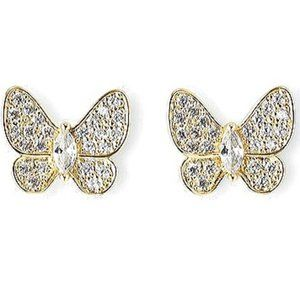 8 Other Reasons Pave Gold Butterfly Earrings